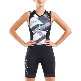 2XU Compression Combinaison de triathlon Femme, black/chroma